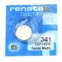 Батарейка часовая кнопочная Renata 341, V341, SR714SW, 627