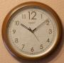 Часы настенные Rikon 10751 Wood (шаговый ход)