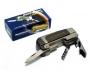 Зажигалка карманная с ножом штопором и  открывалкой (острое плам